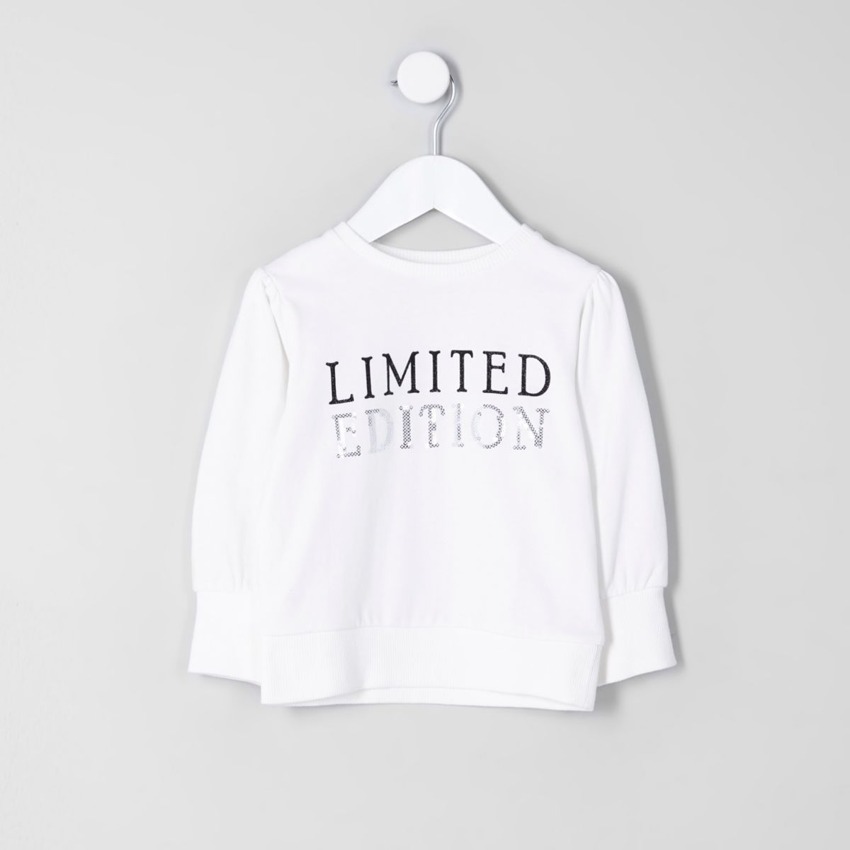 Mini girls cream 'limited edition' sweatshirt