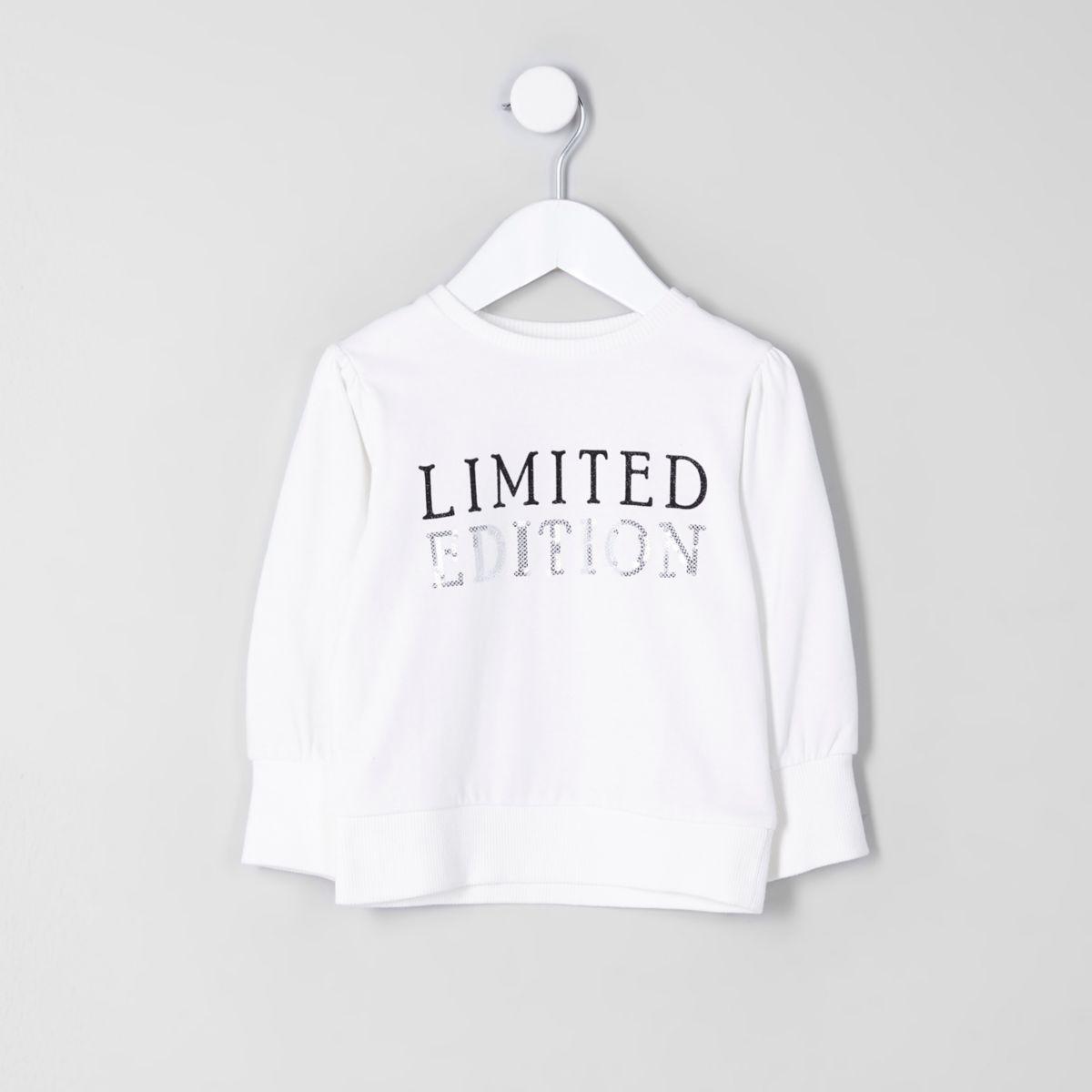 "Sweatshirt ""Limited Edition"" in Creme"