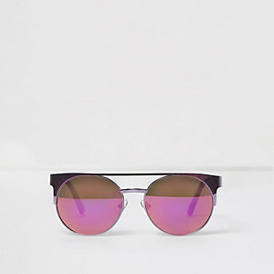 Girls purple brow bar sunglasses