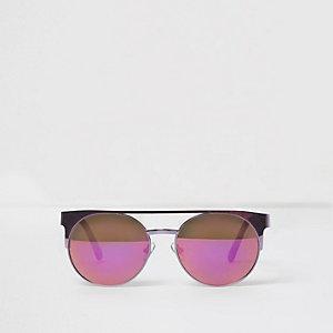 Zonnebril met paarse brug voor meisjes