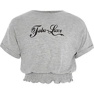 T-shirt «fabu-luxe» à ourlet froncé pour fille