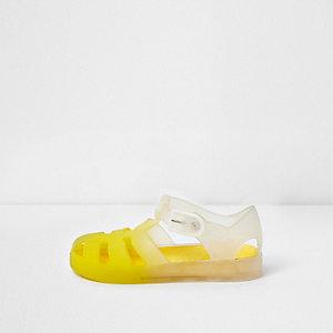 Gelbe Jelly-Sandalen mit Farbverlauf