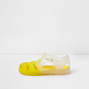 Mini girls yellow ombre jelly cage sandals