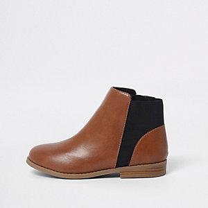 Bruine chelsea boots voor meisjes