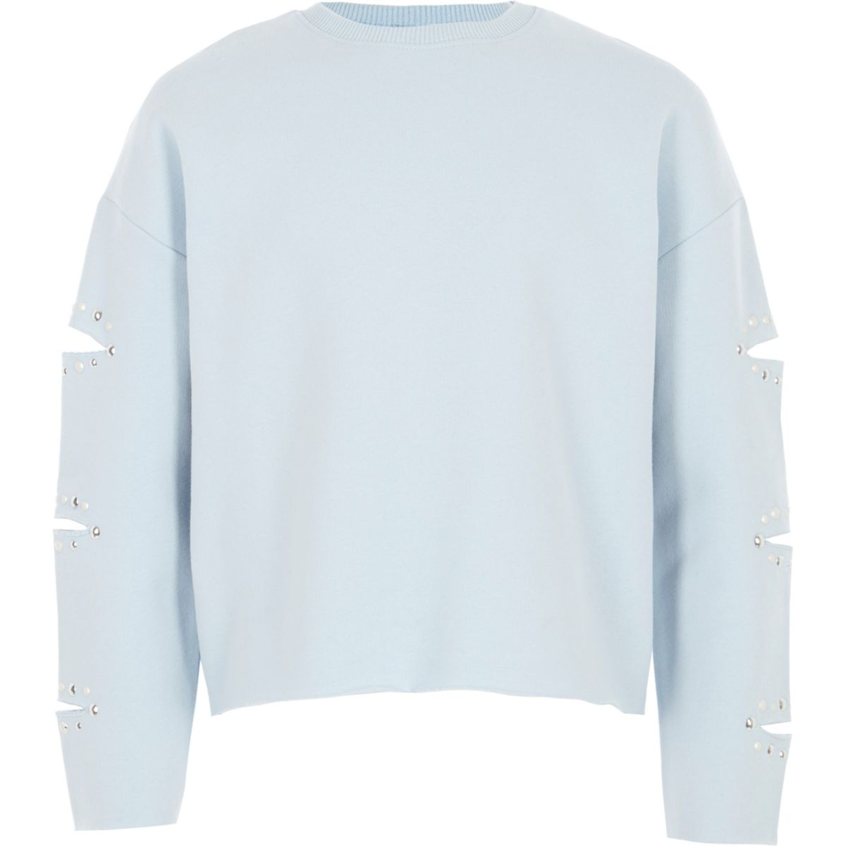 Girls light blue split sleeve sweatshirt