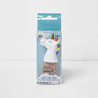 Girls Unicorn confetti nail polish