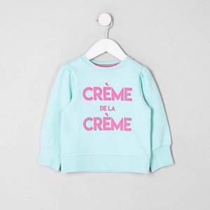 Mini girls blue 'creme de la creme' jumper