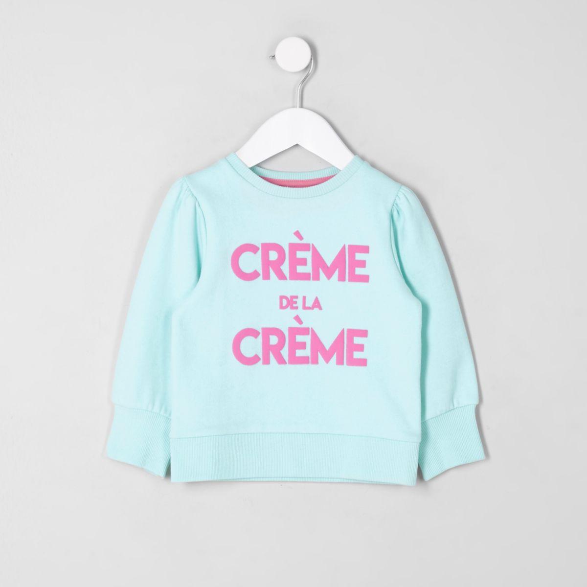 Mini girls blue 'creme de la creme' jumper