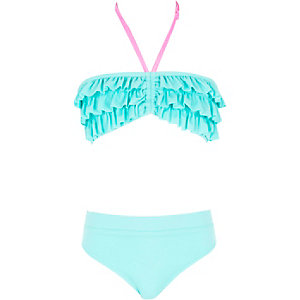 Bandeau-Bikiniset in Aqua