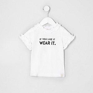 T-shirt « if you like » blanc mini fille