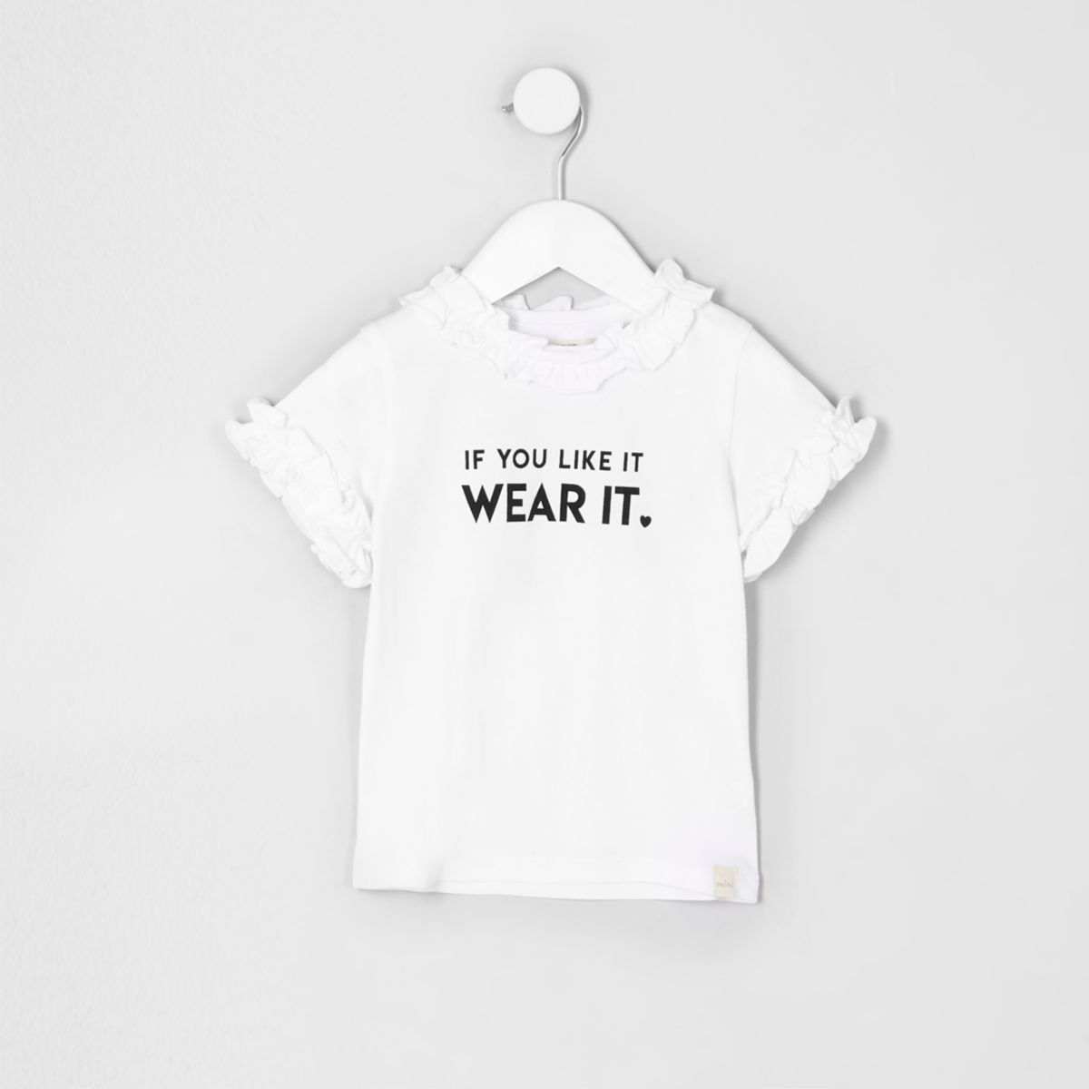 Mini girls white 'if you like' T-shirt