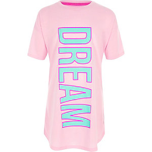 Girls pink 'dream' print nightdress