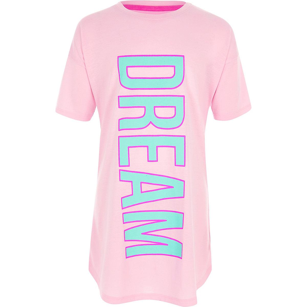 Chemise de nuit imprimé «dream» rose pour fille