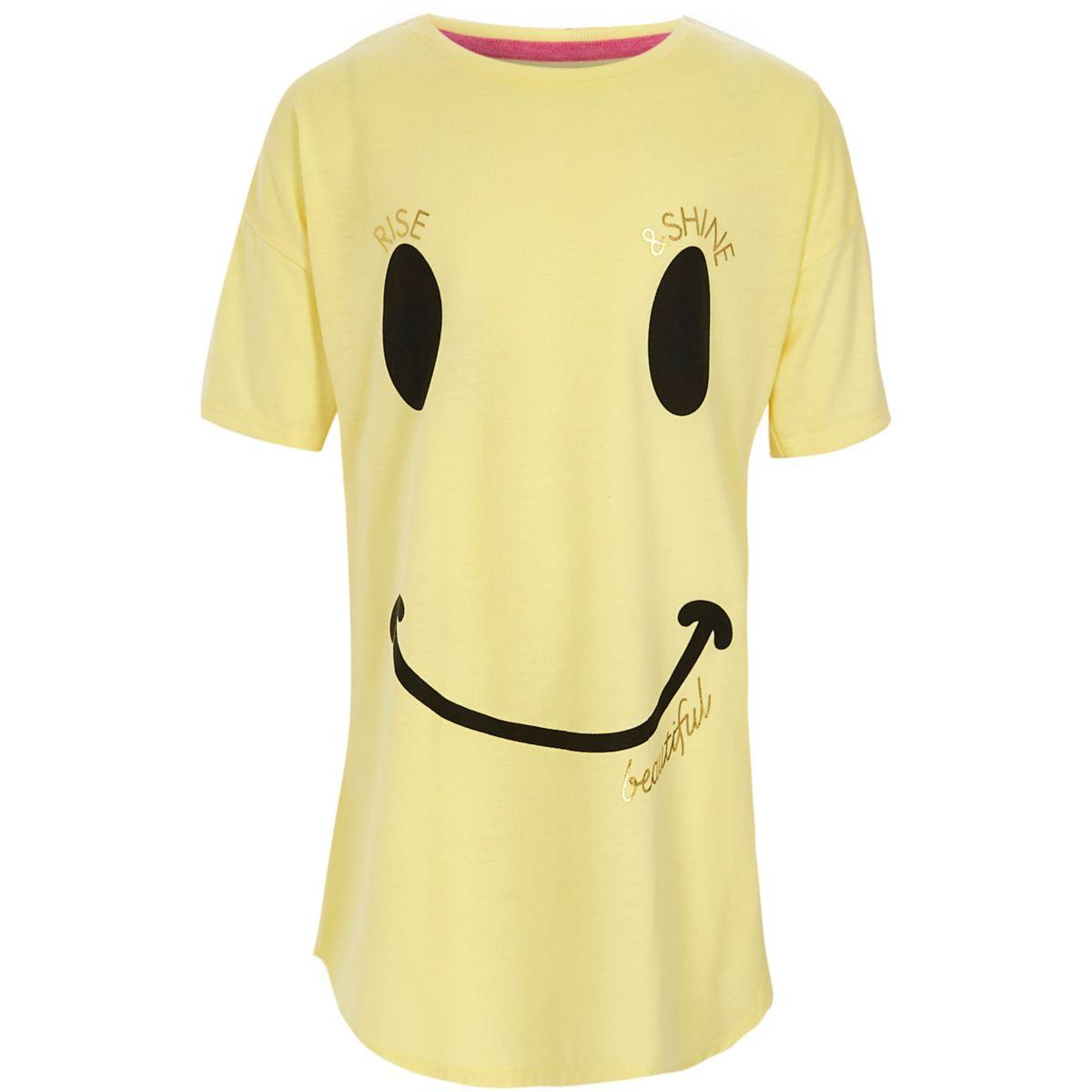 Girls yellow smiley face nightdress