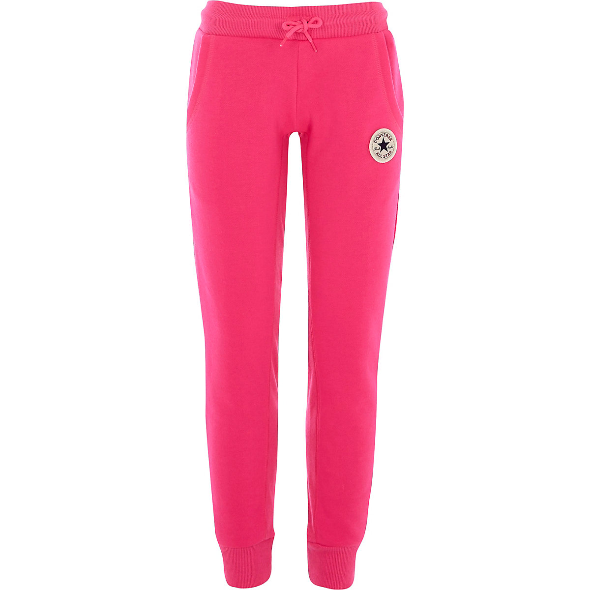 Girls Converse bright pink joggers