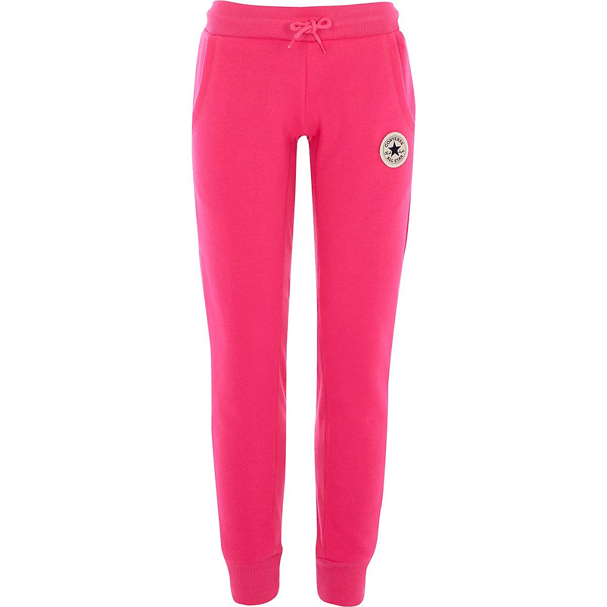 Converse – Pantalon de jogging rose vif pour fille