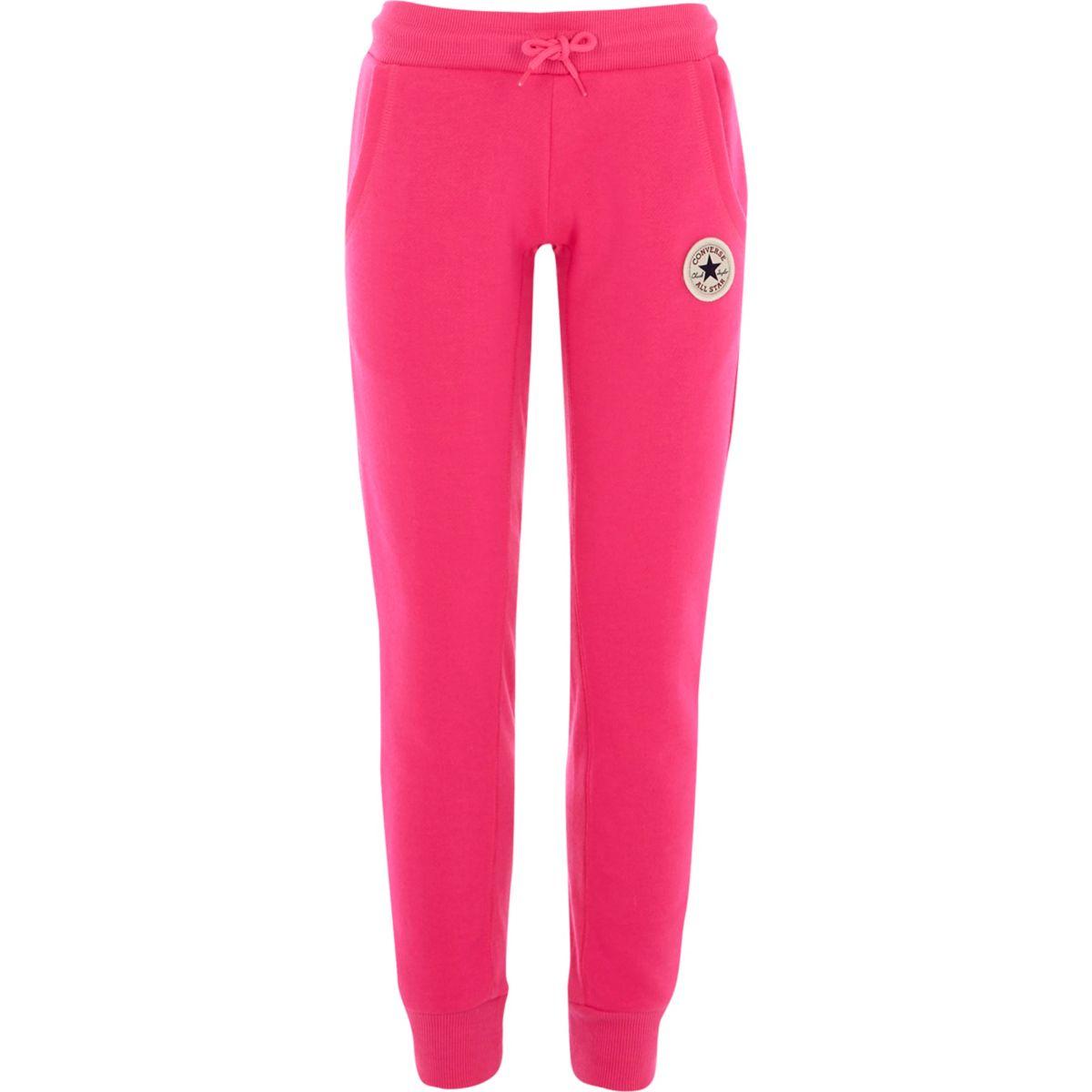 Converse – Jogger in leuchtendem Pink