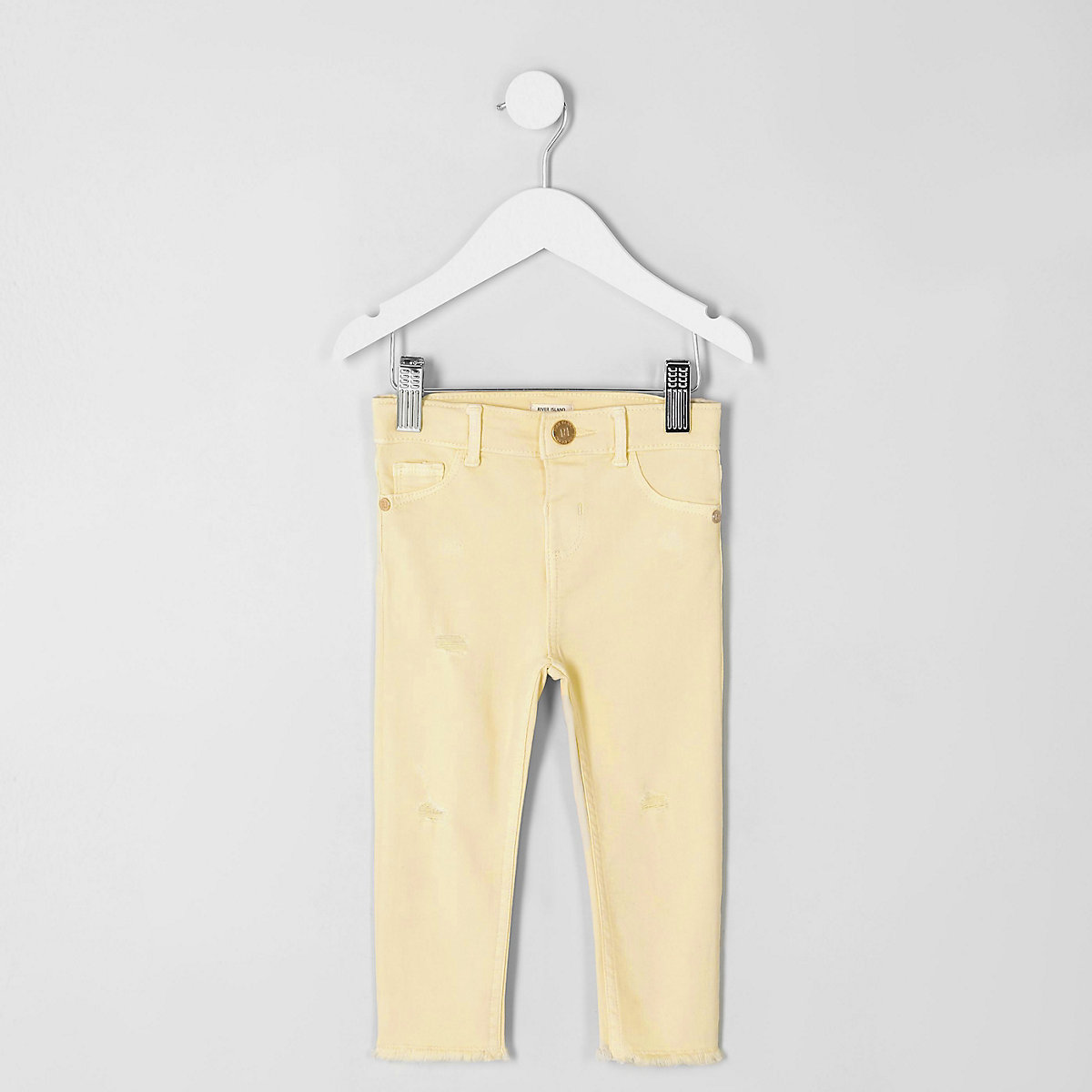 Mini girls yellow Molly skinny fit jeggings