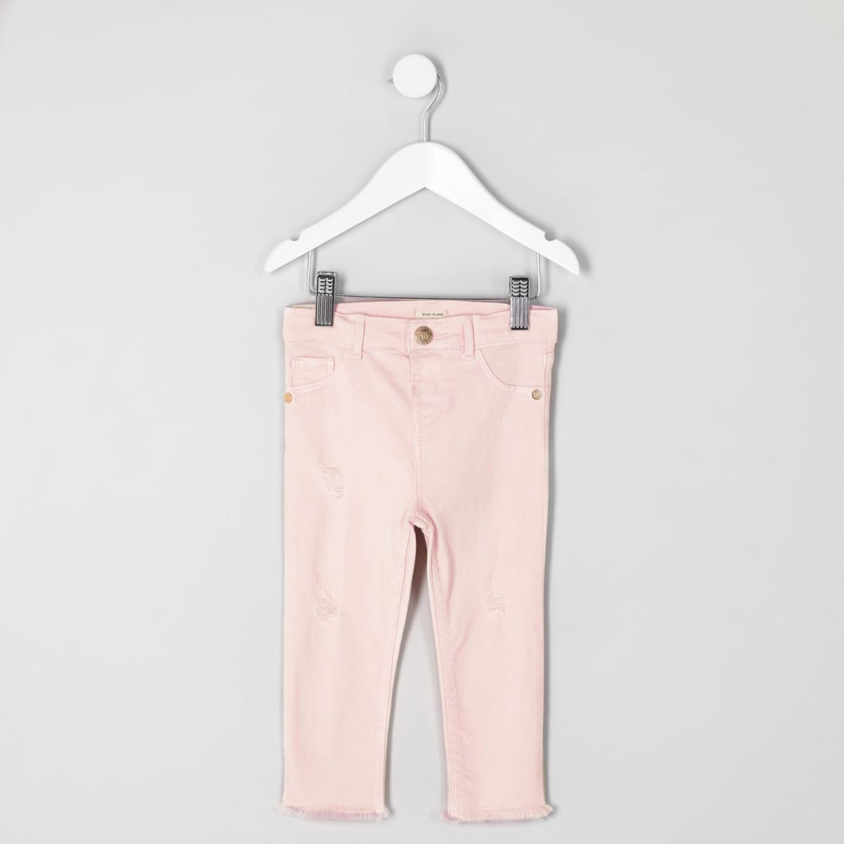 Mini girls light pink Molly jeggings