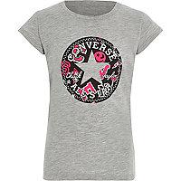 Girls grey Converse 'All Star' print T-shirt