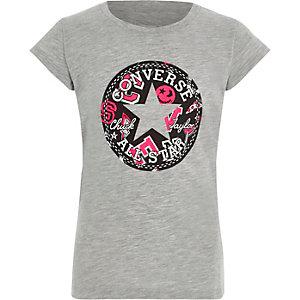 Converse - Grijs T-shirt met All Star-print voor meisjes