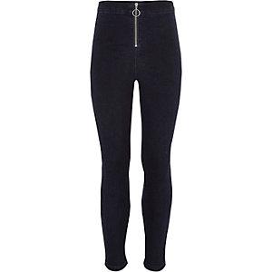 Molly - Blauwe jeans met rits voor voor meisjes