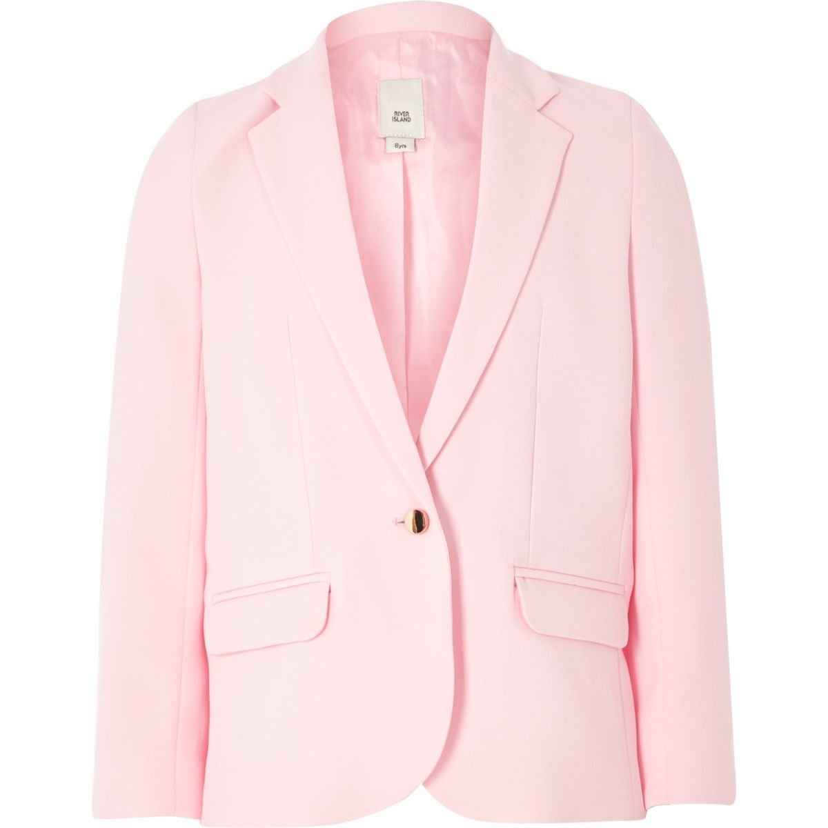 Girls light pink slouch blazer - Blazers - Coats & Jackets - girls