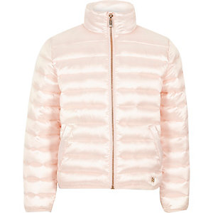 Girls pink padded jacket
