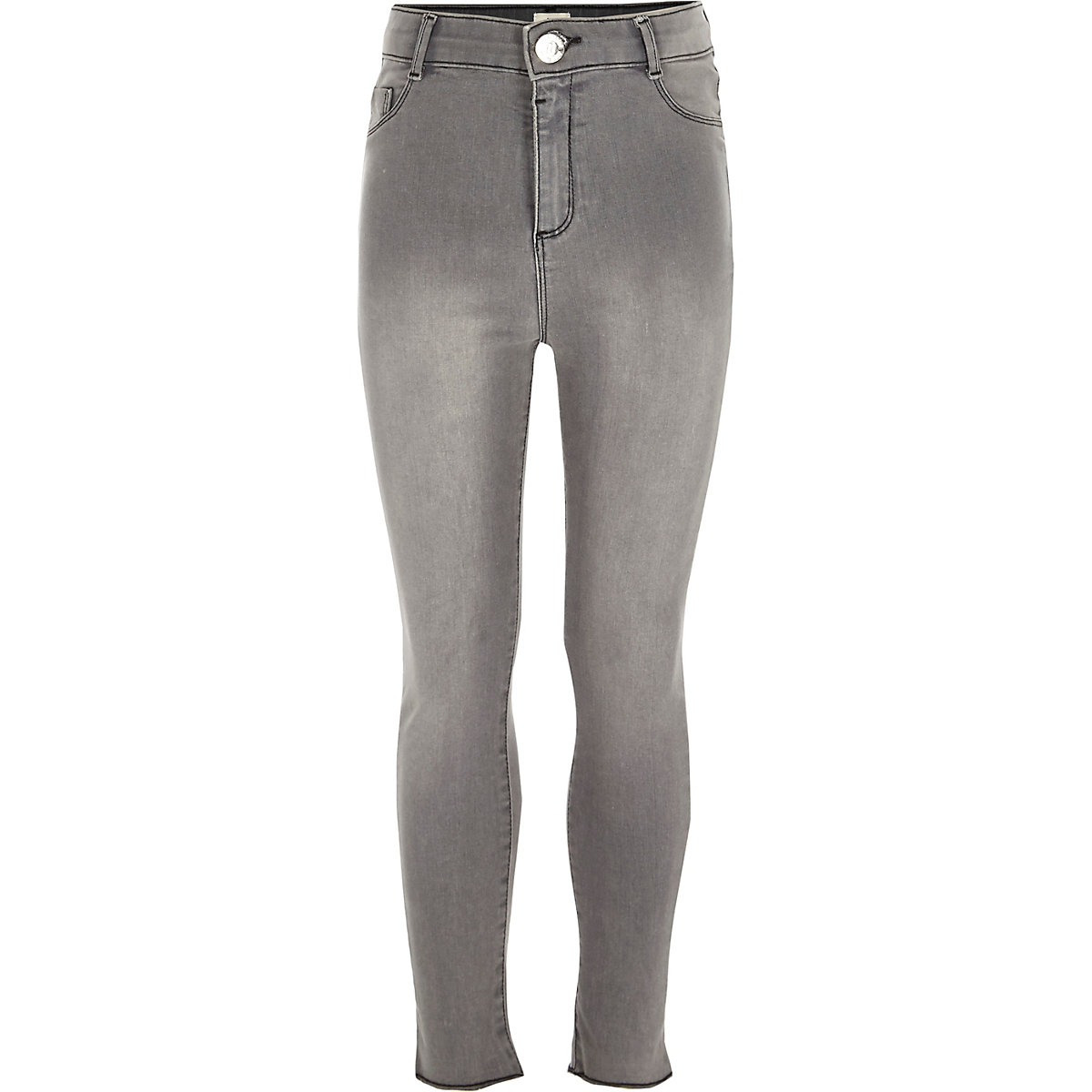 Girls grey high rise Molly jeggings