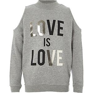 "Graues Sweatshirt ""Love"""
