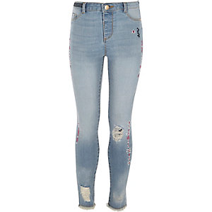 Molly – Blaue Jeans mit Aztekenmuster
