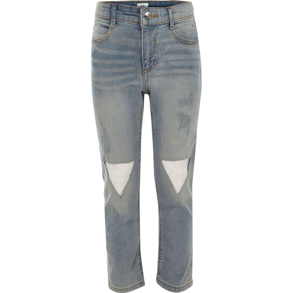 Straight Leg Jeans mit Aufnäher