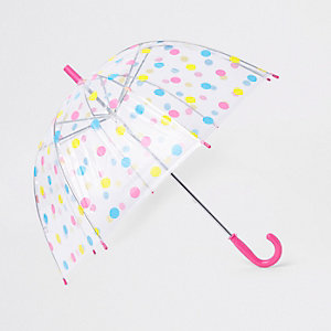 Girls pink polka dot umbrella
