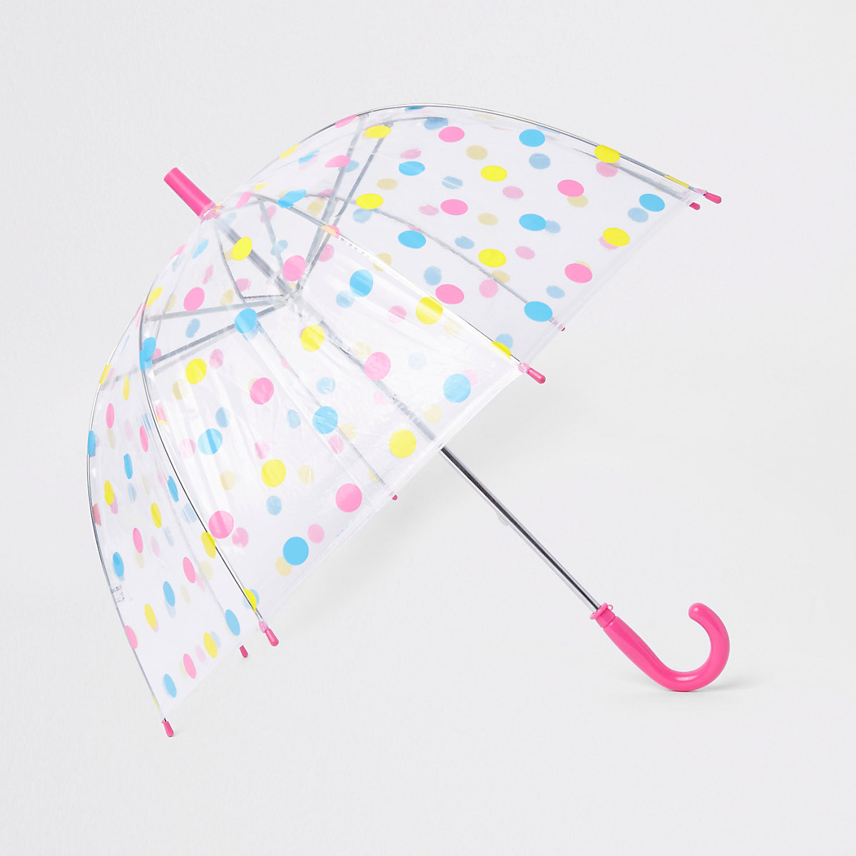 Girls pink polka dot umbrella