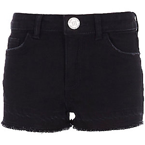 Girls black boyfriend shorts