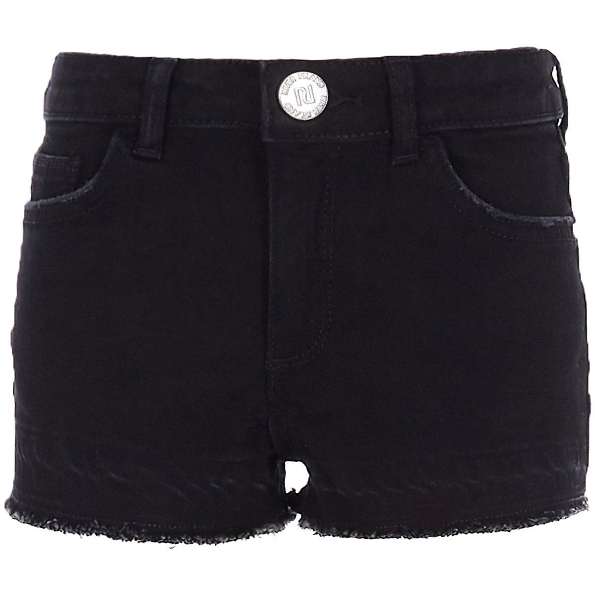 Girls black boyfriend shorts