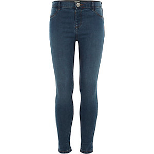 Girls blue Molly skinny jeans