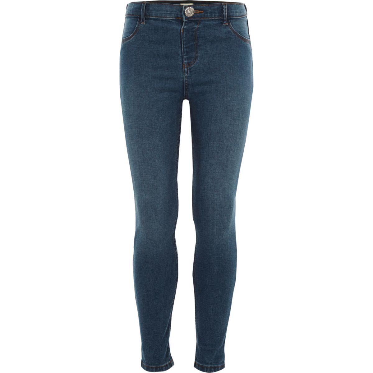Molly – Blaue Skinny Jeans im Used-Look