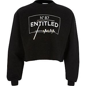"Schwarzes Sweatshirt ""entitled"""