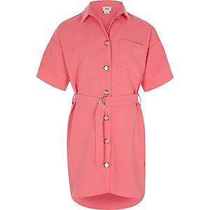 Hemd mit Gürtel und Camouflage-Muster