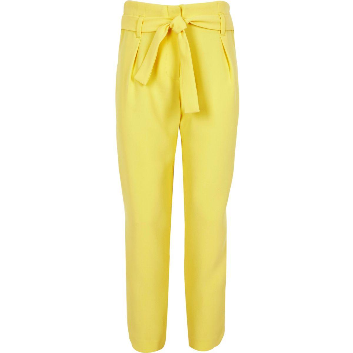 Girls yellow tapered pants