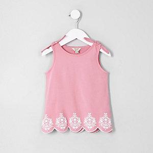 Mini - Roze hemdje met strik op de schouder voor meisjes
