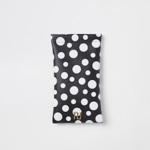 Girls black spot print sunglasses case