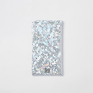 Girls silver Holographic sunglasses case
