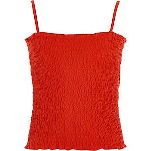Oranje gesmokte camitop voor meisjes