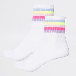 Lot de chaussettes tube multicolores pour fille