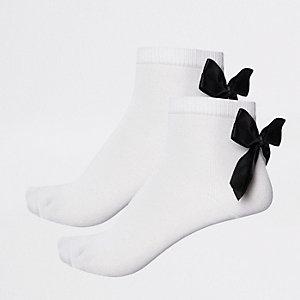 Multipack zwarte sokken met strik voor meisjes