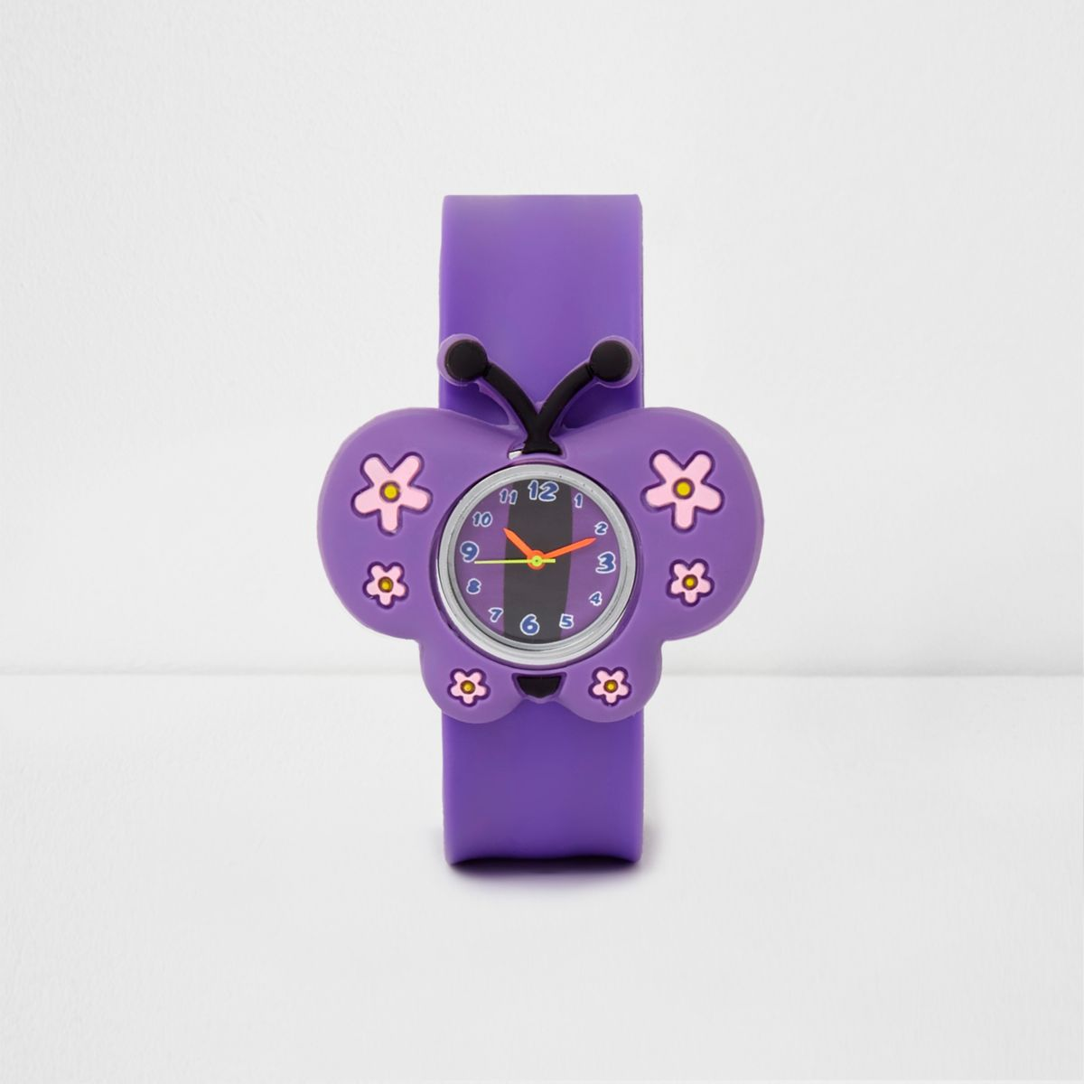 Montre clap papillon violette pour fille