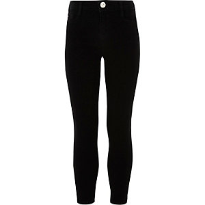 Girls black Alannah relaxed skinny jeans
