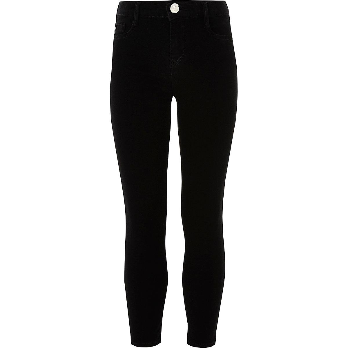 Girls black Alannah relaxed skinny jeans